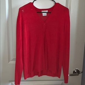 Red cardigan. Excellent condition